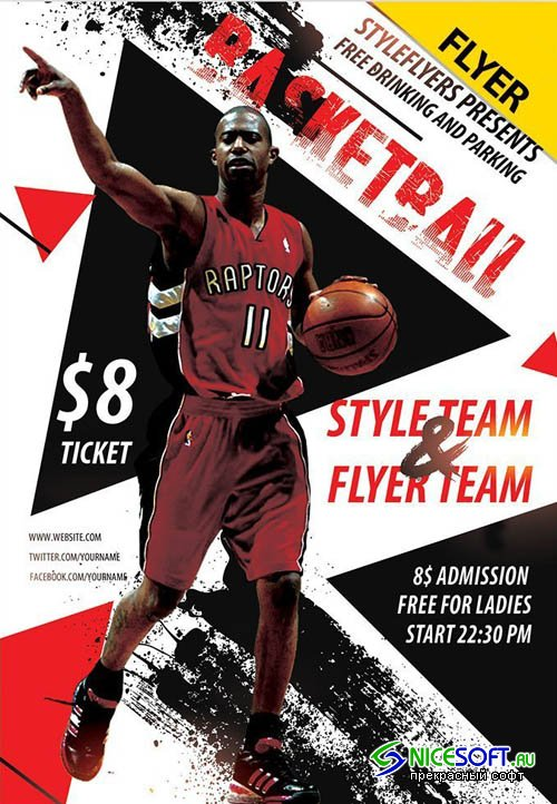 Basketball V15 2019 PSD Flyer Template