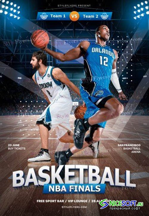 Basketball NBA Finals V1 2019 PSD Flyer Template