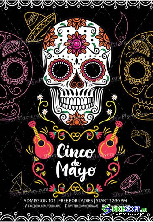 Cinco De Mayo V16 2019 PSD Flyer Template