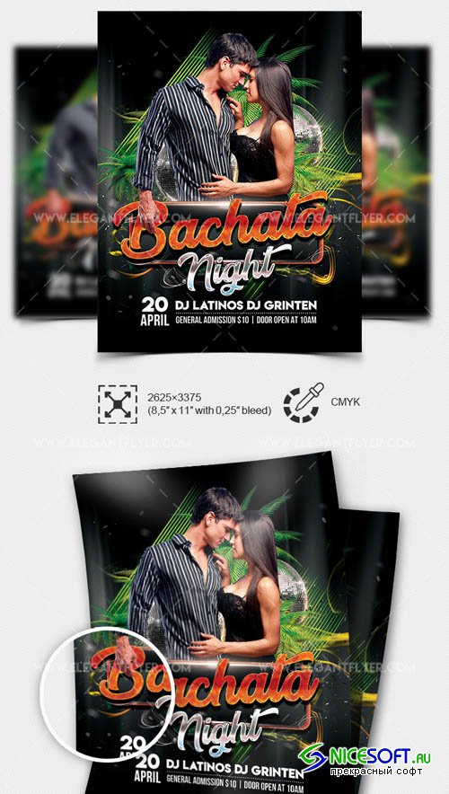 Bachata Night V1 2019 Flyer PSD Template
