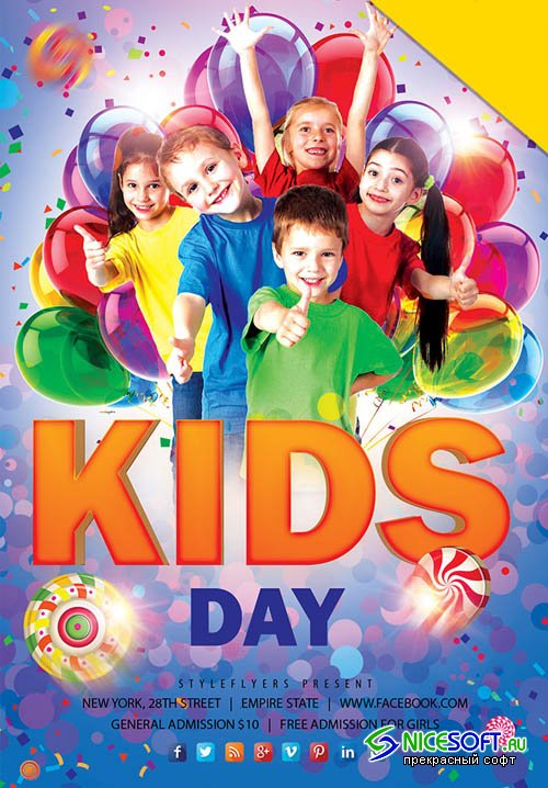 Kids Day V9 2019 PSD Flyer Template