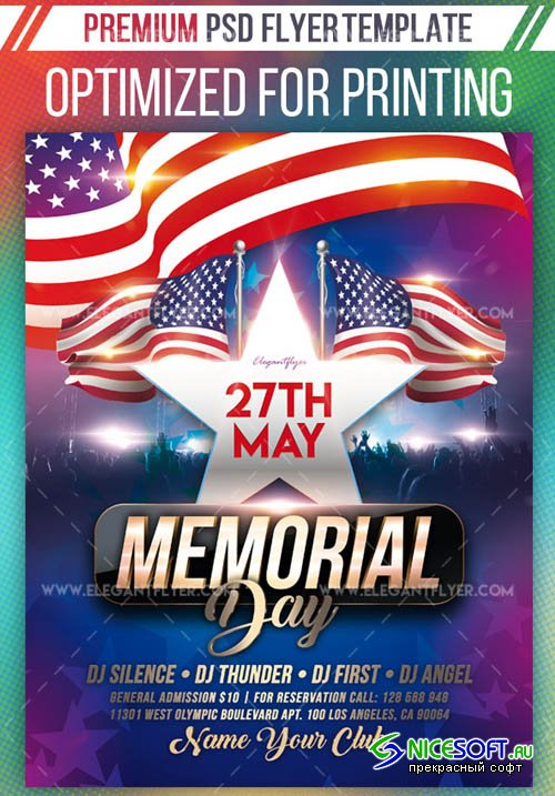 Memorial Day Events V17 2019 Premium Flyer Template in PSD