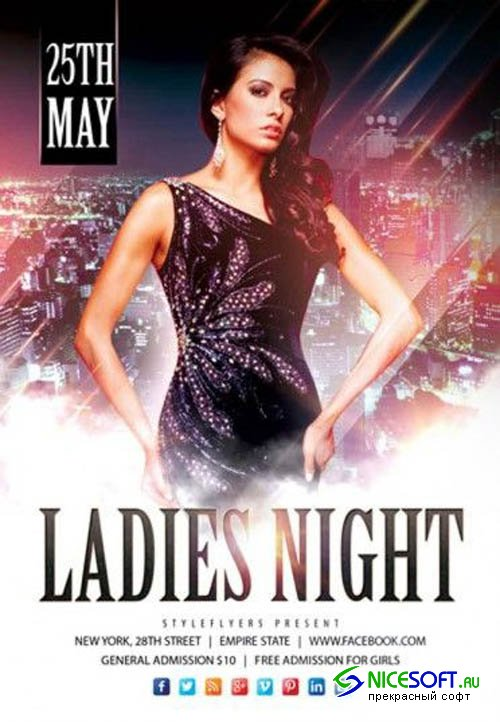 Ladies Night V20 2019 PSD Flyer Template