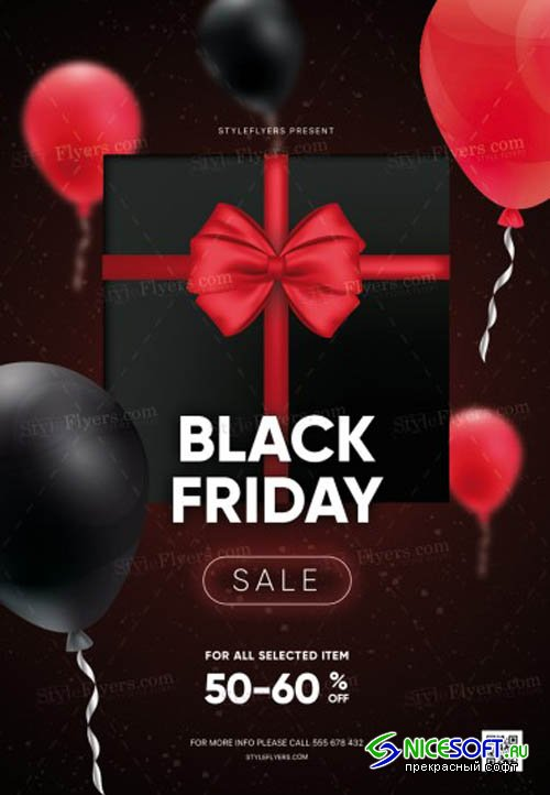 Black Friday V17 2019 PSD Flyer Templat