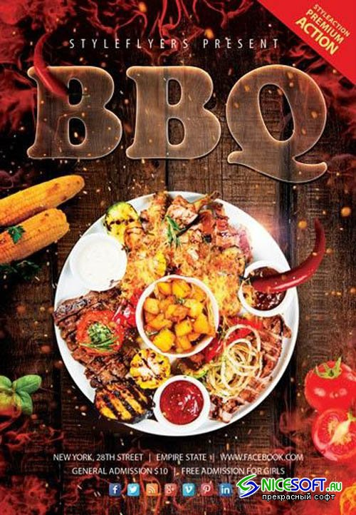 BBQ 2019 PSD V9 Flyer Template