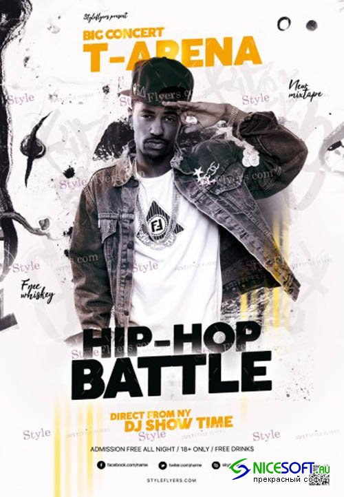 Hip Hop Battle V9 2019 PSD Flyer Template