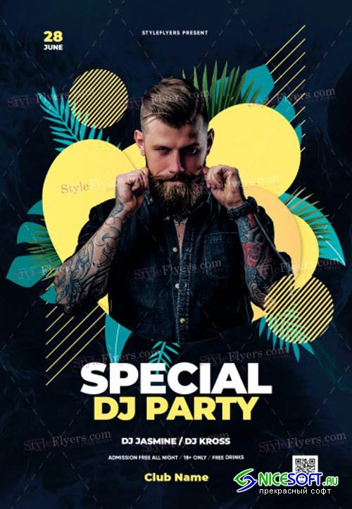Special DJ Party V11 2019 Flyer Template