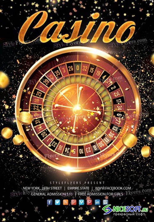Casino V11 2019 PSD Flyer Template