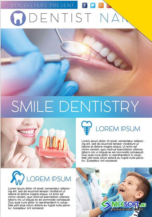 Dentist V7 2019 Flyer PSD Template