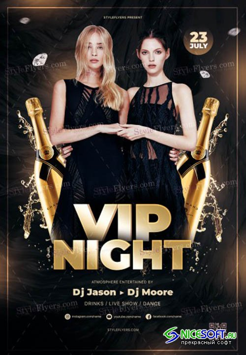 VIP Night V1 2019 PSD Flyer Template
