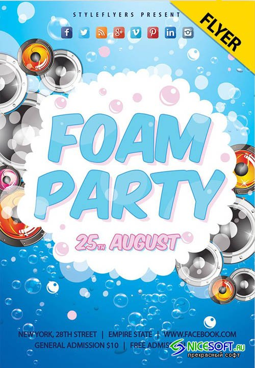 Foam Party V1 2019 Flyer PSD Template