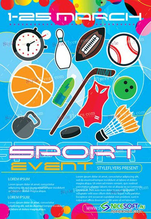 Sport Event V5 2019 PSD Flyer Template