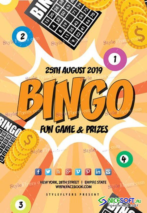 Bingo 2019 PSD V9  Flyer Template