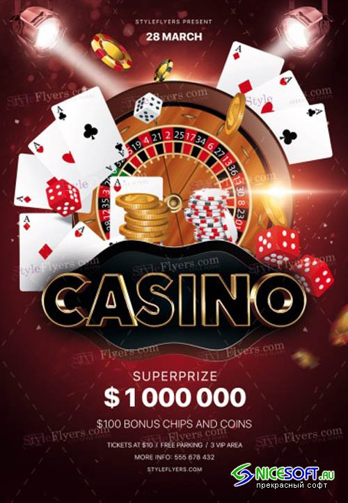Casino V20 2019 PSD Flyer Template