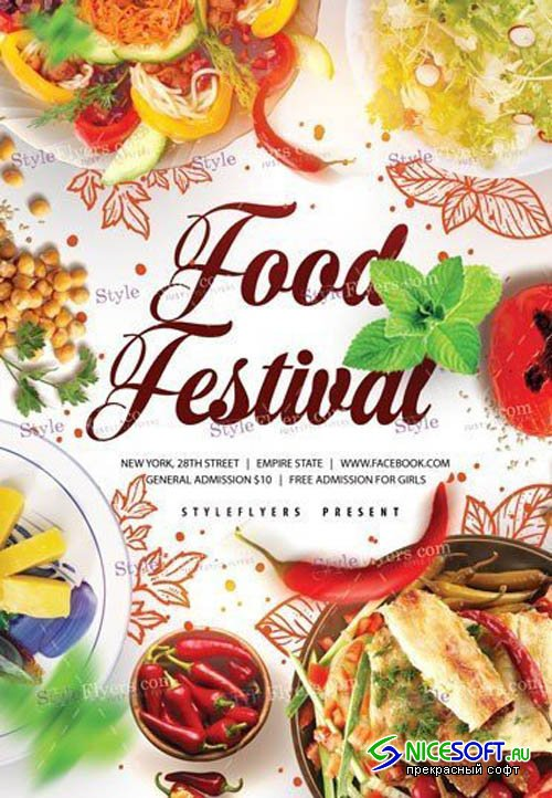 Food Festivale V9 2019 PSD Template Flyer
