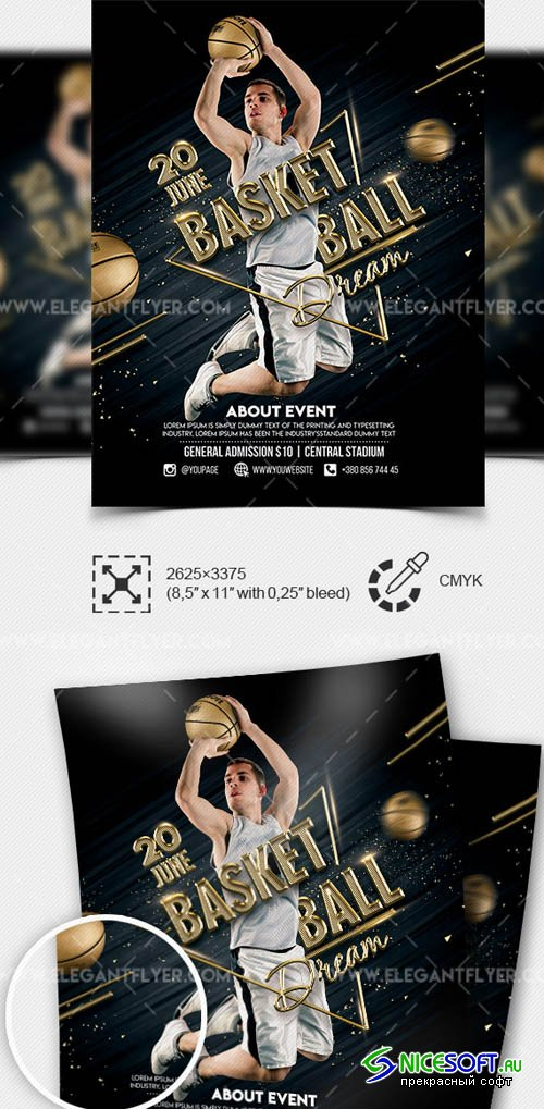 Basketball Dream V1 2019 Premium Flyer Template in PSD