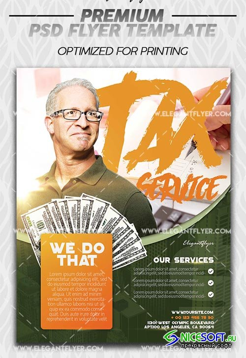 Tax Service V1 2019 Premium Flyer Template in PSD
