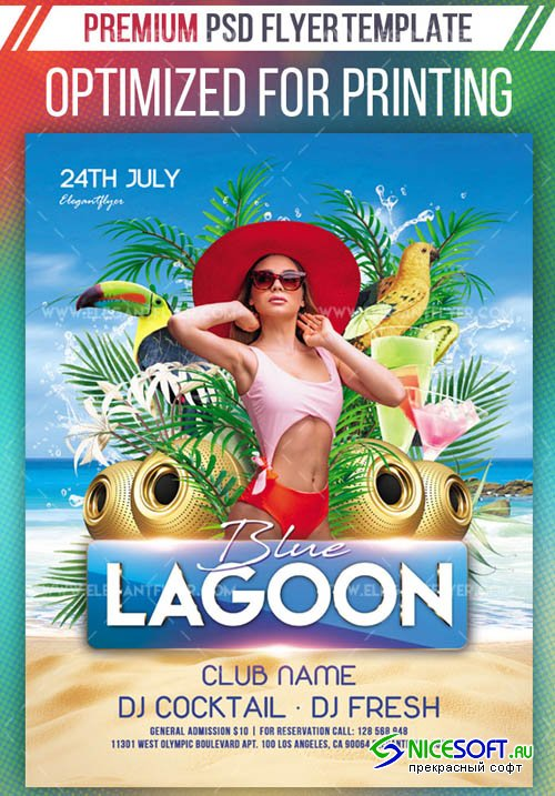 Blue Lagoon V1 2019 Premium Flyer Template in PSD