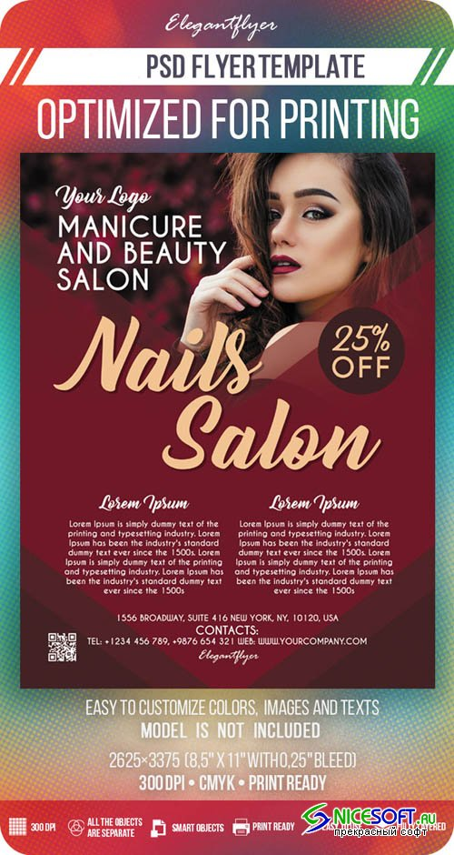 Nails Salon V7 2019 PSD Flyer Template