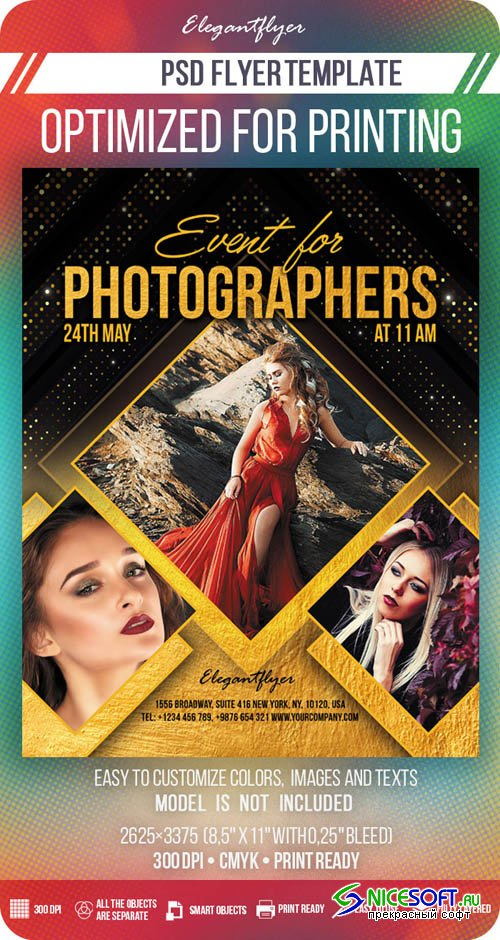 Event for Photographers V7 2019 Flyer Template in PSD
