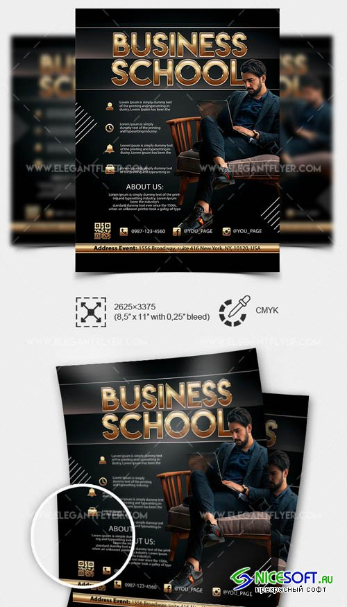 Business School V7 2019 Flyer Template in PSD