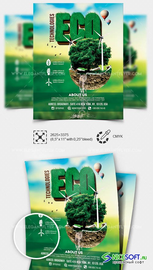 Eco Technologies V7 2019 Flyer Template in PSD