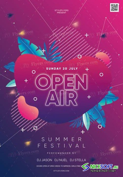 Open Air V16 2019 PSD Flyer Template