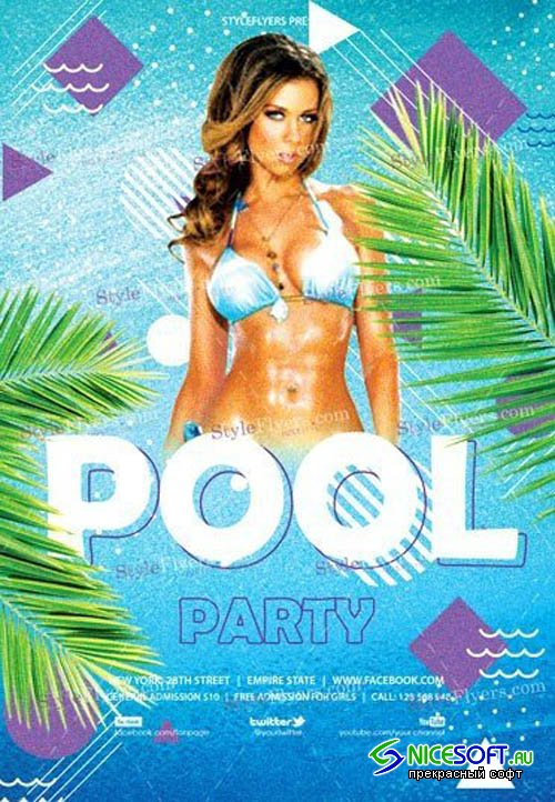Pool Party V21 2018 PSD Flyer Template