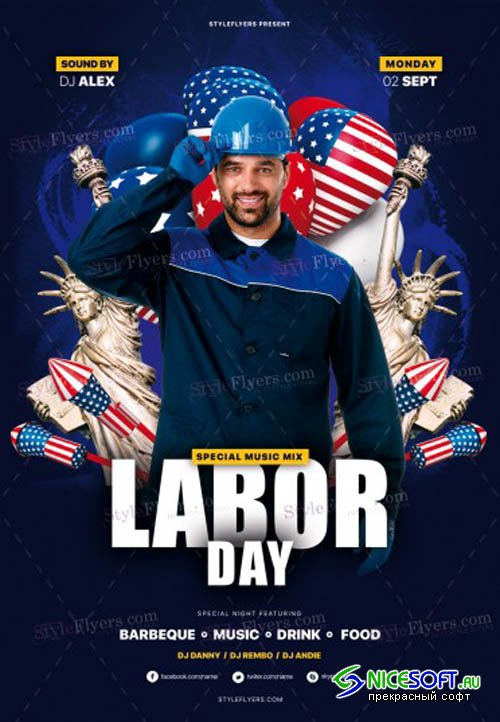 Labor Day V0208 2019 PSD Flyer Template
