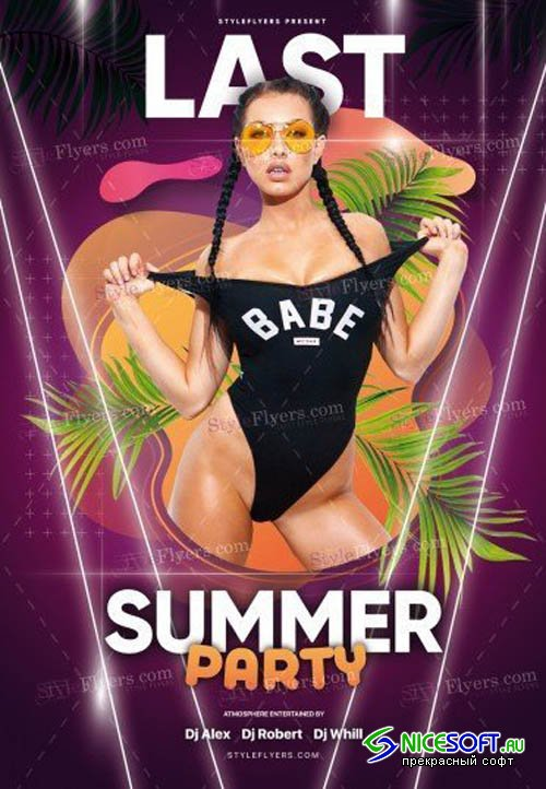 Last Summer Party V0108 2019 PSD Flyer Template