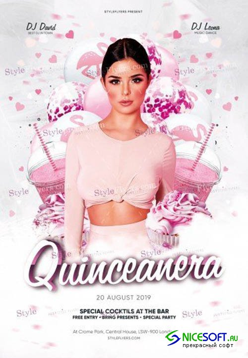Quinceanera V0108 2019 PSD Flyer Template