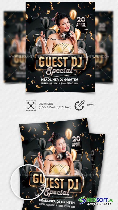 Special Guest DJ V1208 2019Template in PSD