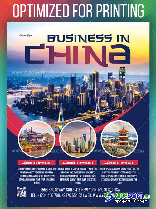 Business in China V1208 2019 Flyer Template in PSD