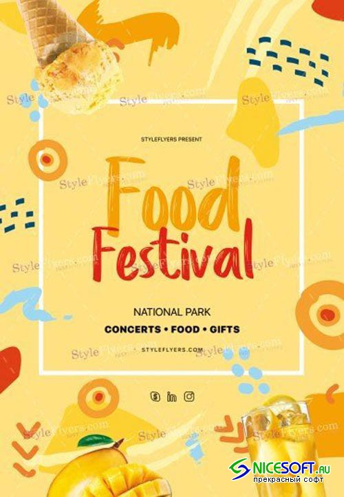 Food Festival V2208 2019 PSD Flyer Template