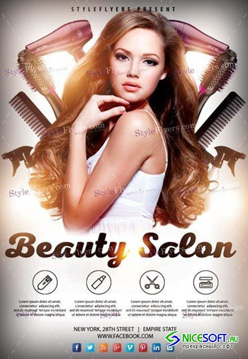 Beauty Salon V2208 2019 PSD Flyer