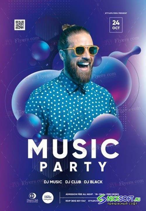 Music Party V2208 2019 PSD Flyer Template