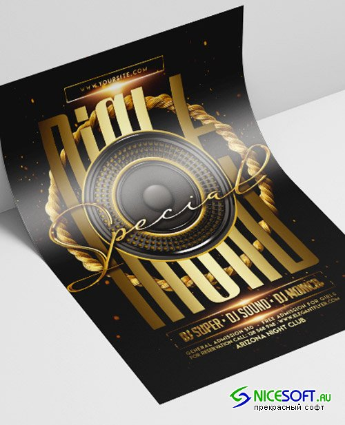 Special Night V2208 2019 Flyer Template in PSD