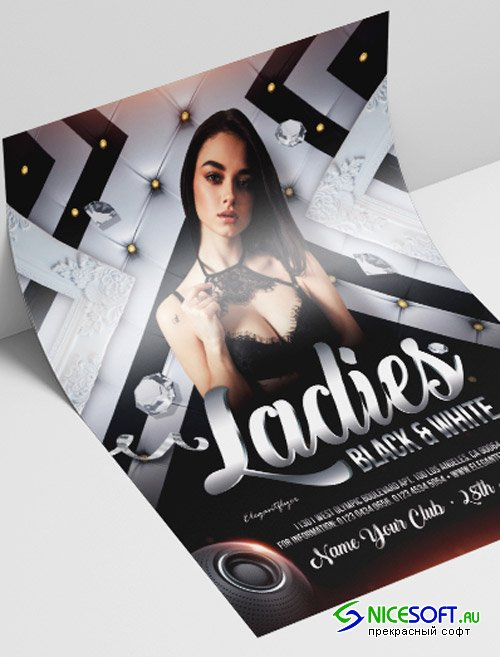 Ladies Black and White V2208 2019 Premium PSD Flyer Template