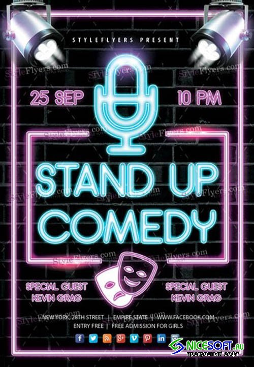 Stand Up Comedy V2908 2019 Flyer