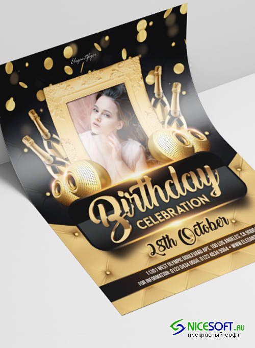 Birthday Celebration V2908 2019 Premium PSD Flyer Template