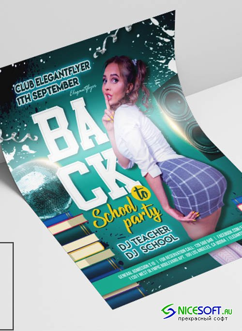 Back to School V2908 2019 Premium PSD Flyer Template