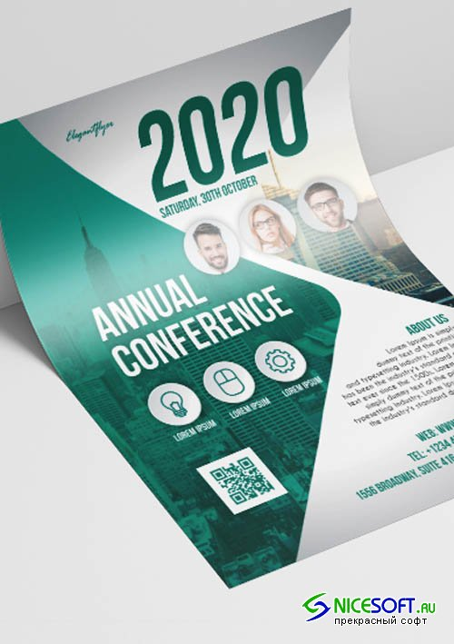Annual Conference V2908 2019 Premium PSD Flyer Template