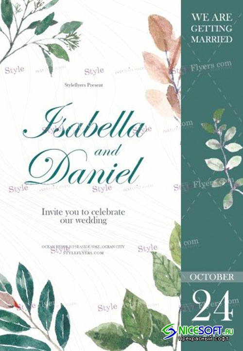 Wedding V1709 2019 PSD Flyer Template