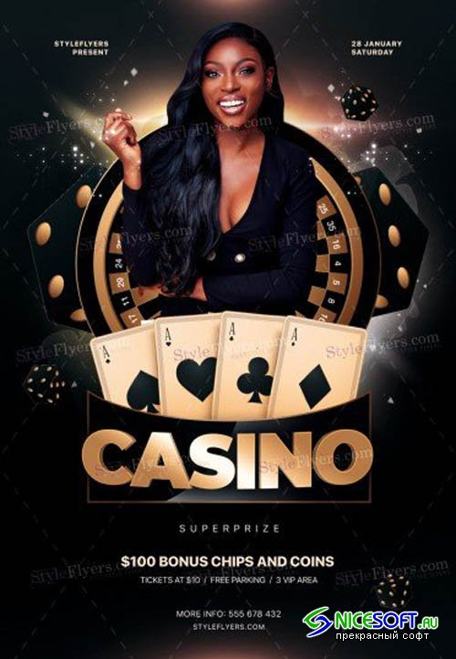 Casino V1709 2019 PSD Flyer Template