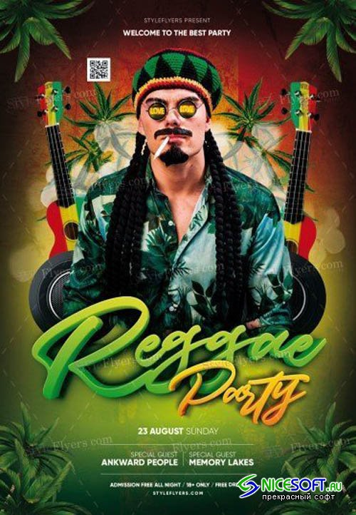 Reggae Party V1709 2019 PSD Flyer Template