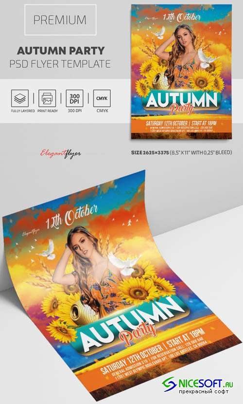 Autumn Party V2009 2019 Premium PSD Flyer Template
