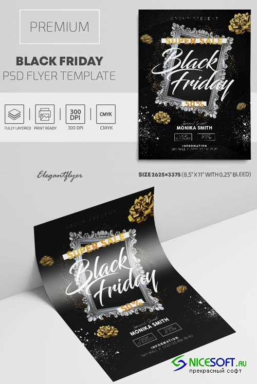 Black Friday V1909 2019 Premium PSD Flyer Template
