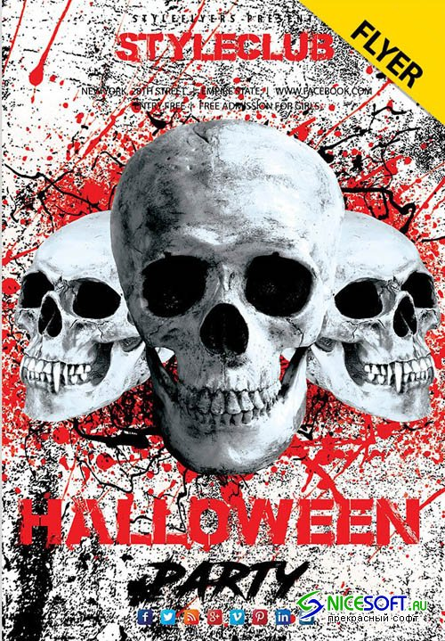 Halloween Flyer V2409 2019 PSD Flyer Template