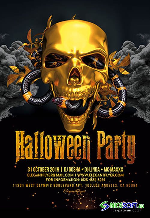 Halloween Party V27096 2019 PSD Flyer Template