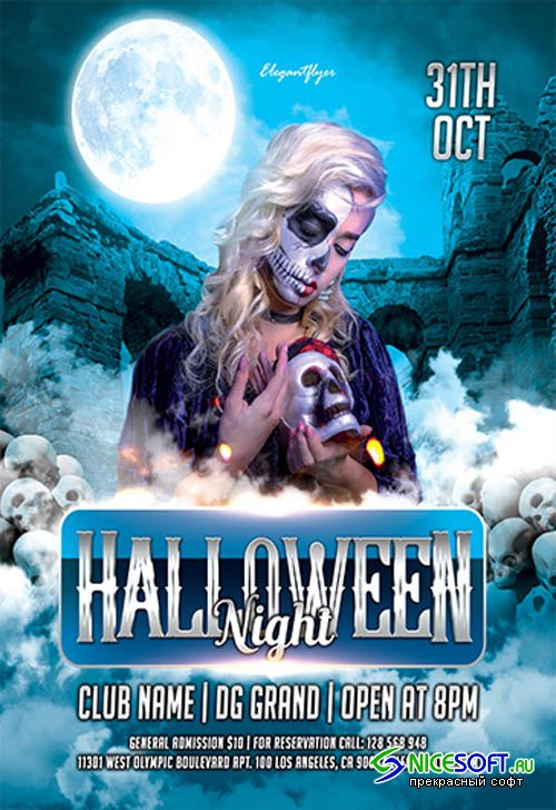 Halloween Night V27093 2019 Premium PSD Flyer Template